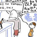 image humour noir enfants en soirée