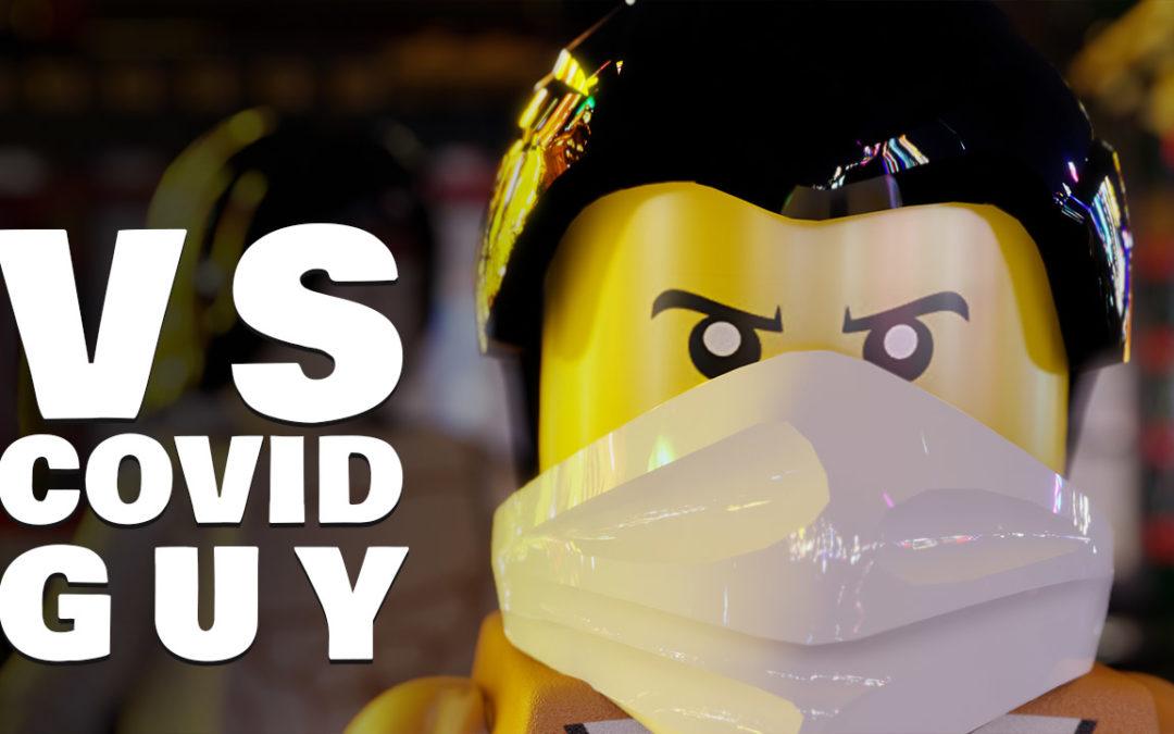 Lego Mortal Kombat : Liu Kang vs Covid Guy