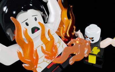 Lego Mortal Kombat : Scorpion fatality